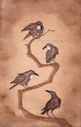 Crow People by TheDevilsWallpaper