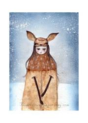 Doe, A deer by TheDevilsWallpaper