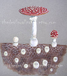 Mushroom folk by TheDevilsWallpaper