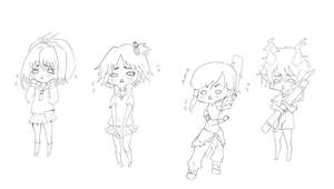 nervous chibis by OmiOhMy