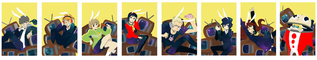 persona 4 designs by OmiOhMy