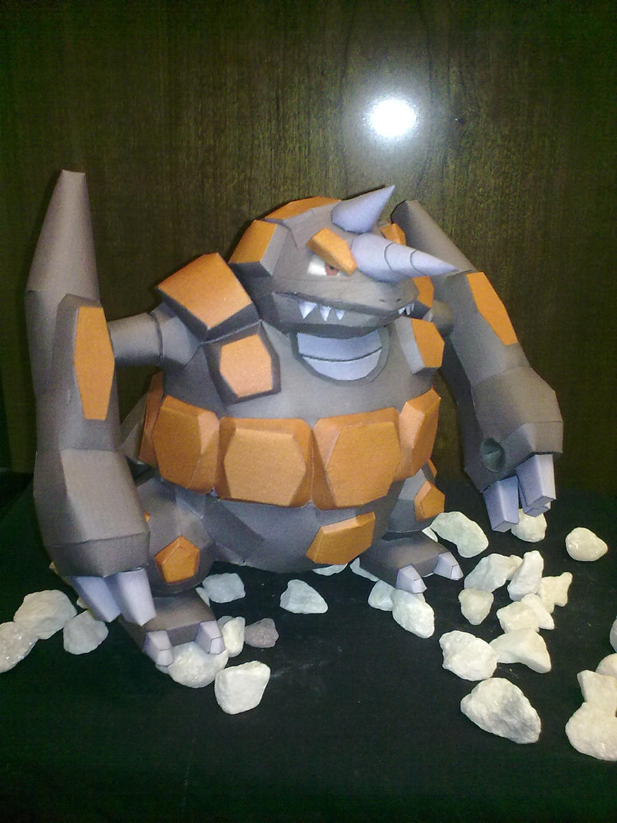 Rhyperior Papercraft by kyogre92