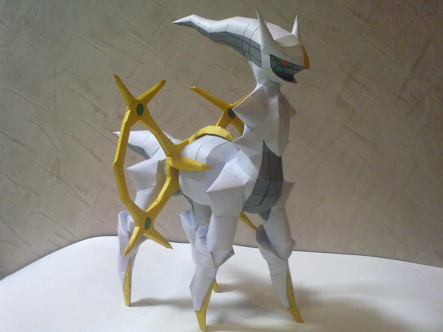Arceus Papercraft by kyogre92