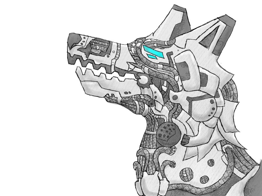 robot wolf by W0LFKEN on DeviantArt