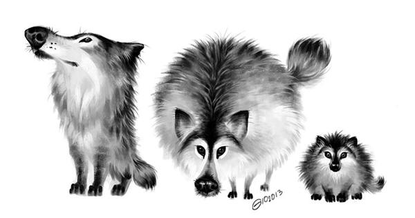 Doodle 216 - wolf doodles by giovannag