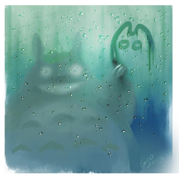 Totoro on Window by giovannag