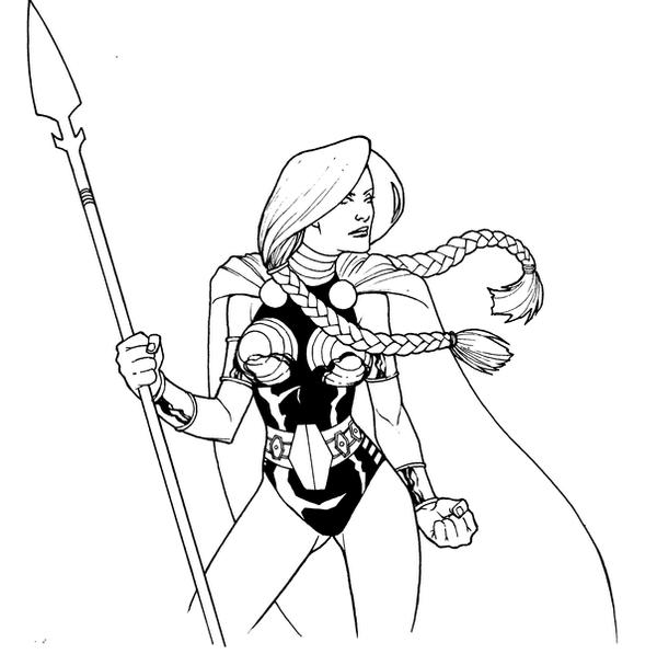 Valkyrie sketch by PORTELA