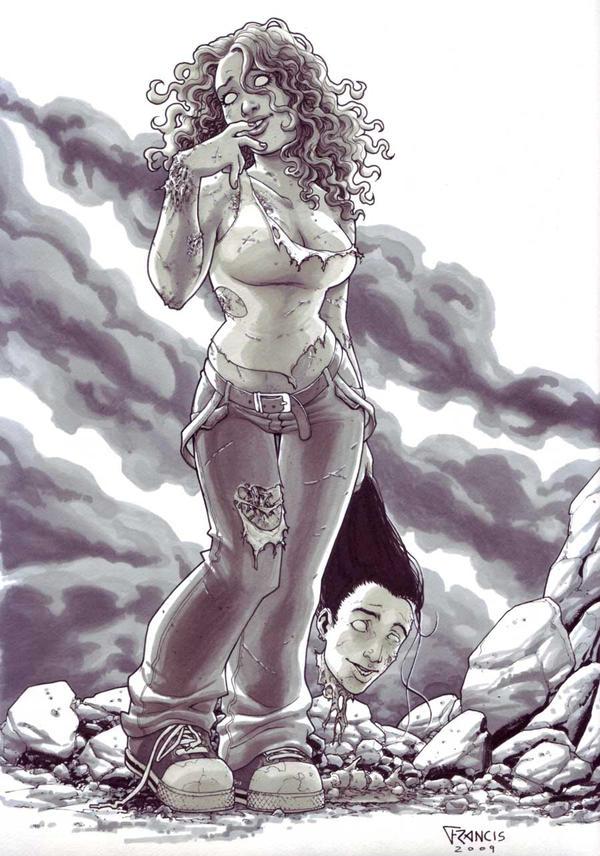 Zombie Girl by PORTELA