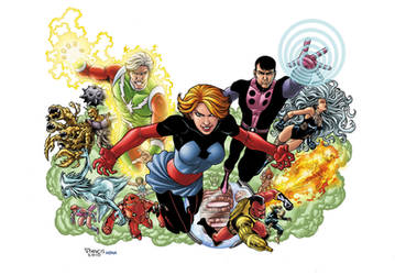 LEGION OF SUPERVILLAINS pin-up by PORTELA