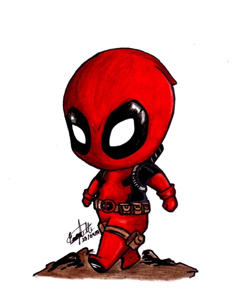 Deadpool Cartoon Coloring Pages