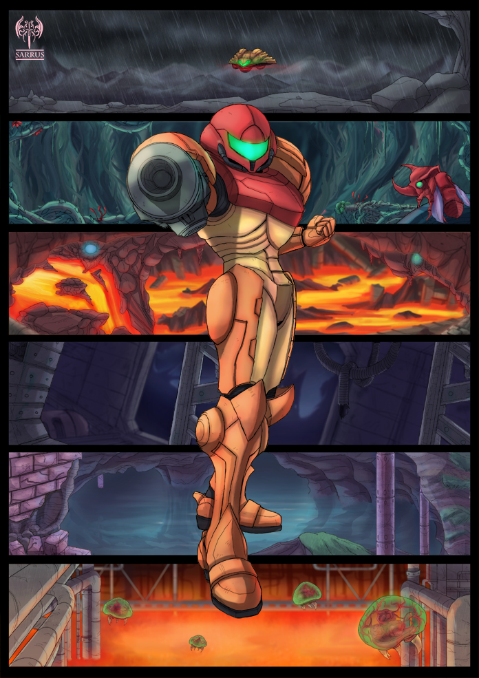 Super Metroid Tribute by sarrus