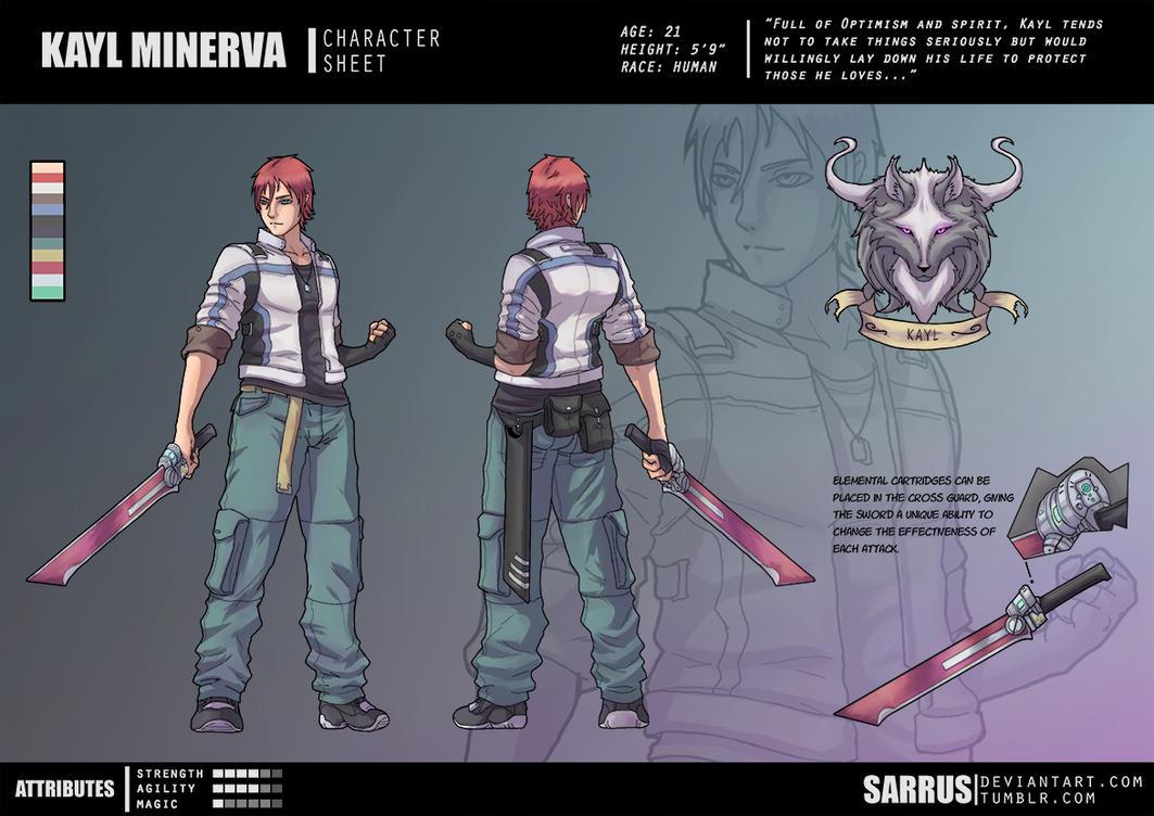 -- Character Sheet -- Kayl Minerva by sarrus