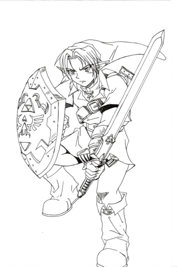 Ocarina Of Time Link Lineart By Sarrus On Deviantart Coloring Page Of Legend Of Ocarina Of Time