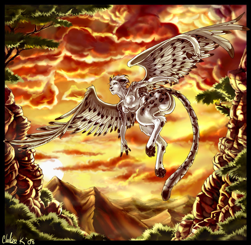 Sphinx in Flight by Chelsee