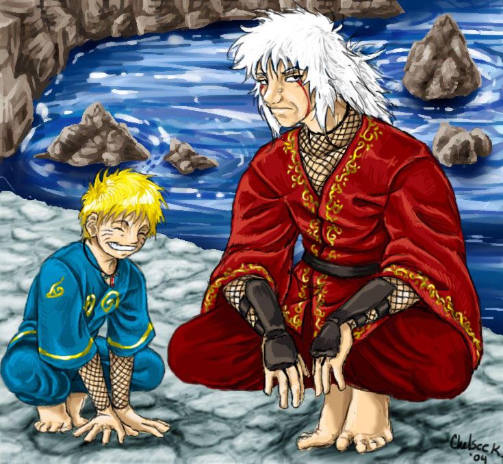 Naruto and Jiraiya by Chelsee
