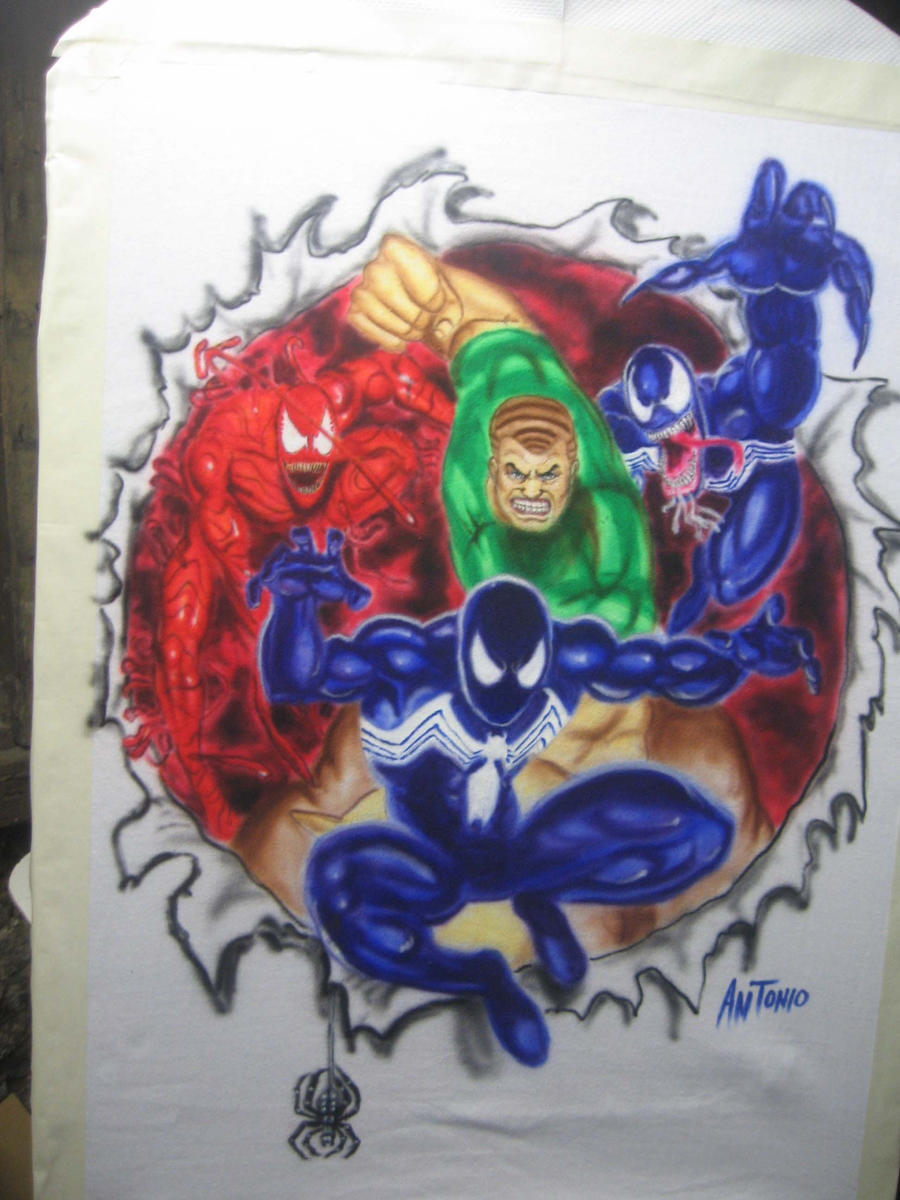 Spiderman Airbrush T Shirt By Antgarcia On Deviantart