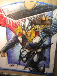 Thor airbrush T-shirt by antgarcia