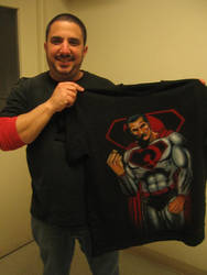Airbrush T-shirt of Superman RED. by antgarcia
