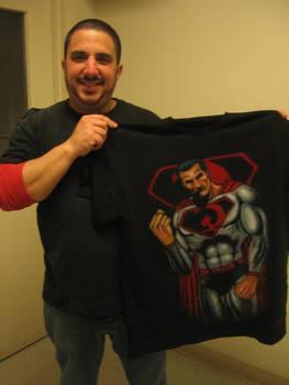 Airbrush T-shirt of Superman RED.