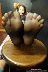 Sofia helpless spread toes by DivaRope