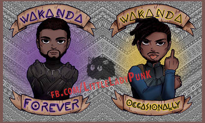 + Marvel: Wakanda Stickers by LittleLadyPunk