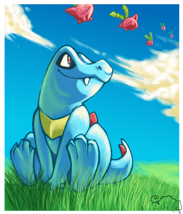 Totodile Sunshine by BrainDeadMareep