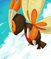 Oekaki: Mothim by BrainDeadMareep