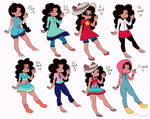 Stevonnie Fusion Outfits Pt.1 by AppleScribble33