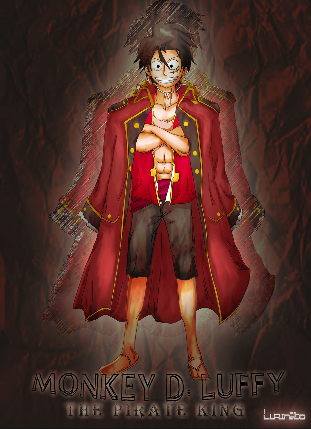 Monkey D Luffy As The Pirate King By Lurinzoo On Deviantart