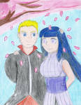 Naruto and Hinata. Together in spring by MegaLinkJoland