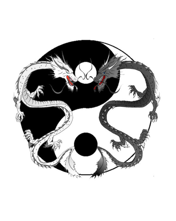 Ying Yang Dragons by NubianKing