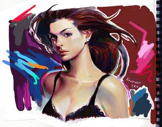 Anne Hathaway by Kandoken