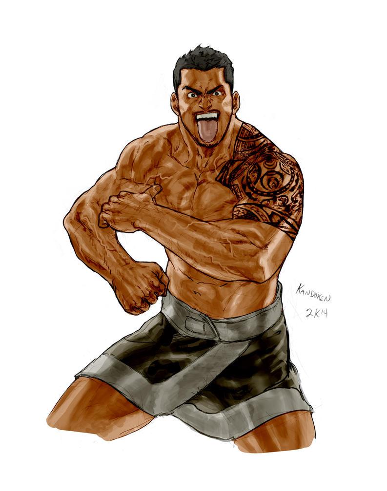 Samoan Wrestler commish by Kandoken