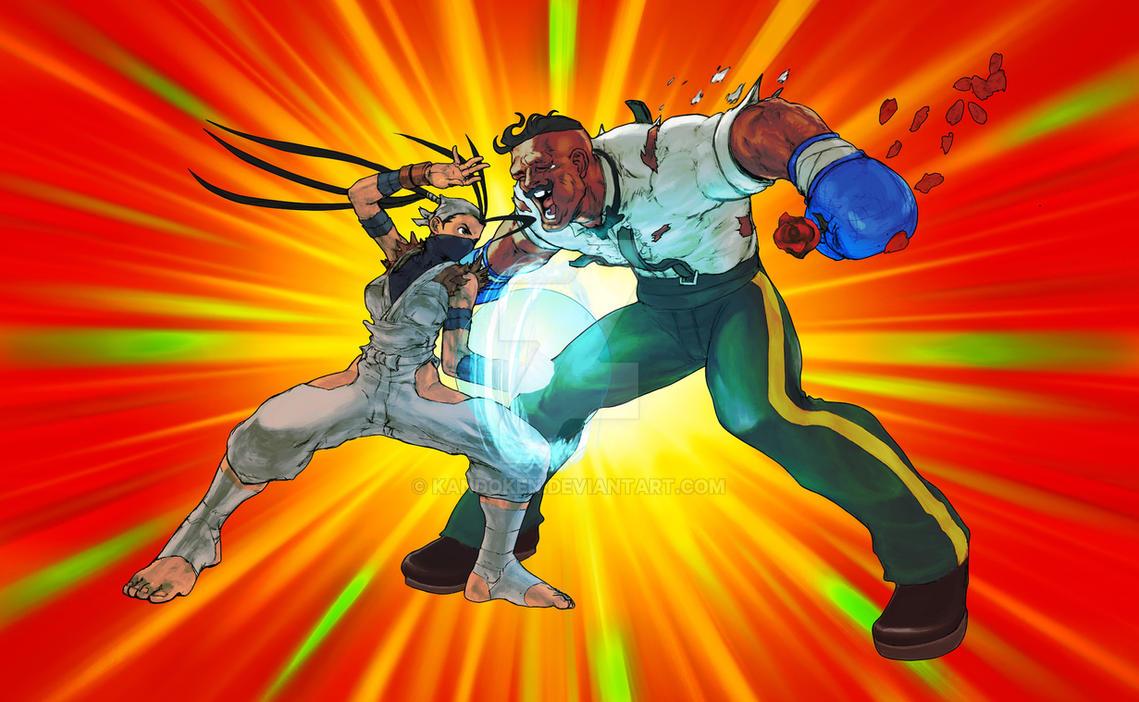 SUPER ART Yoroitoshi Ibuki vs. Dudley by Kandoken