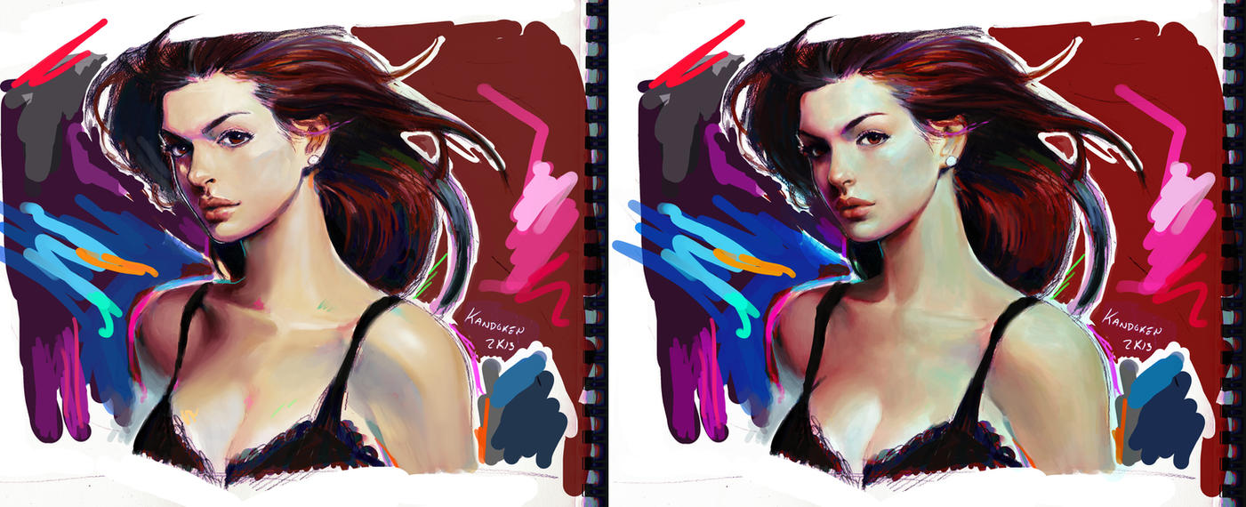Anne Hathaway Redux by Kandoken