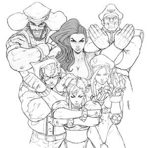 STREET FIGHTER UNLIMITED FAMILY PHOTO