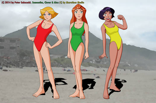 WOOHP spies in swimsuits