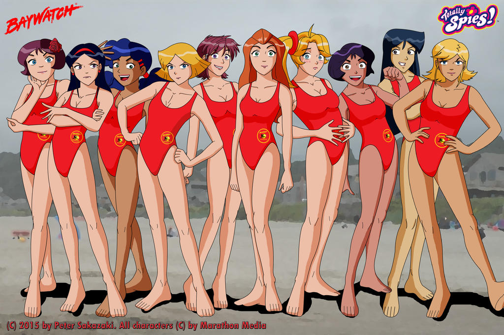 TS Girls as Baywatch Lifeguards by Peter-Sakazaki
