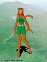 Sam as cat girl by Peter-Sakazaki