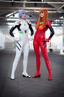 Rei and Asuka by Su-rine