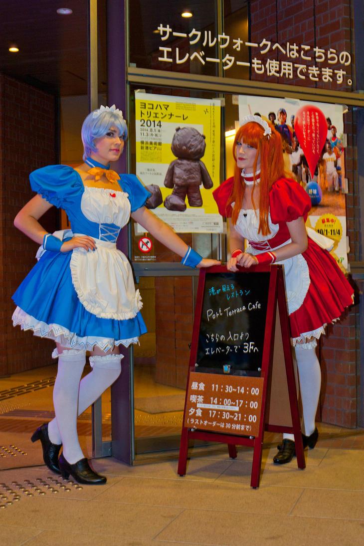 Evangelion maids by Su-rine