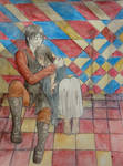 Safe in Your Arms Murtagh and Nasuada by BloodKaika
