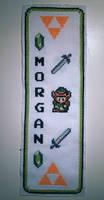 Zelda cross stitched bookmark