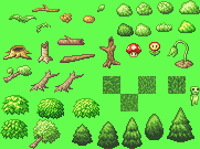 Pixel-Wood-and-Trees by dreamer-aruki