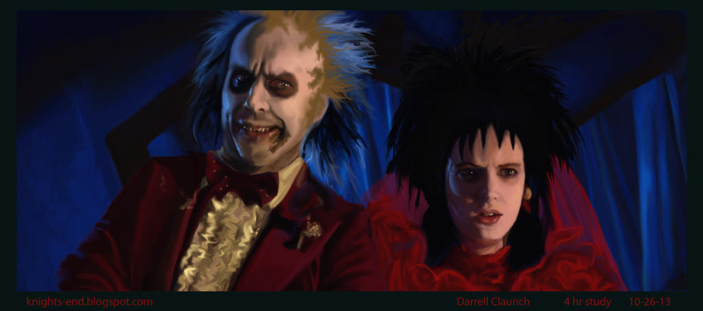 BeetleJuice 4hr paint study by Knights-End