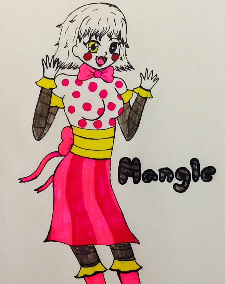 Mangle fnaf 2 human form by smiley smiles on deviantart