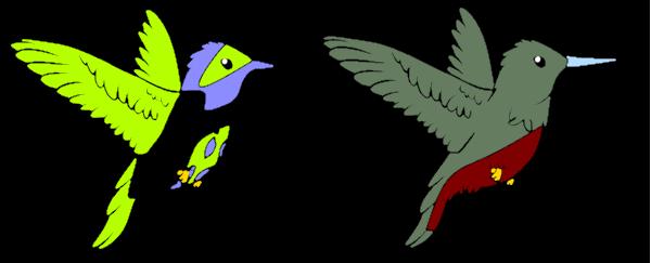 Humming Bird (open) by Amethyst-Wyrm