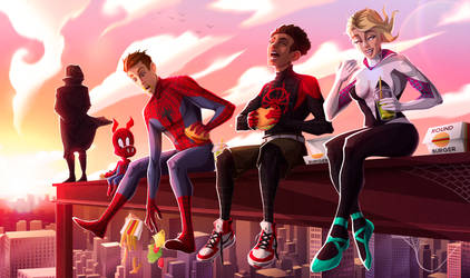 Fanart Spiderman into the spider verse by Melokmel
