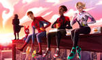 Fanart Spiderman into the spider verse