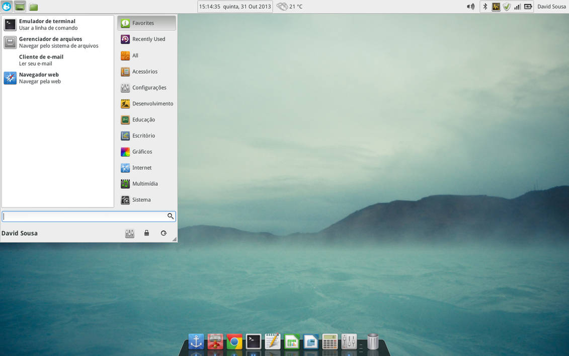Linux Mint 15 XFCE by davidsousarj on DeviantArt